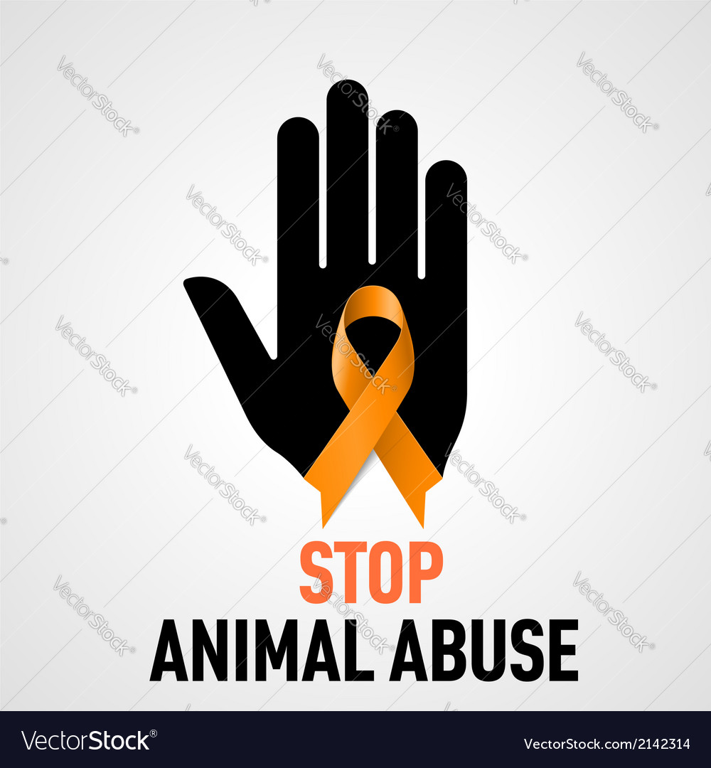 Stop animal abuse sign vector | Price: 1 Credit (USD $1)