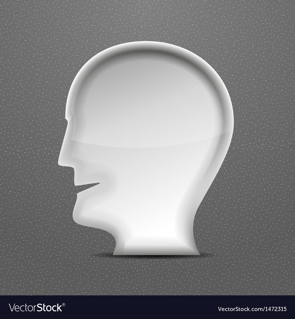 3d white head person concept vector | Price: 1 Credit (USD $1)