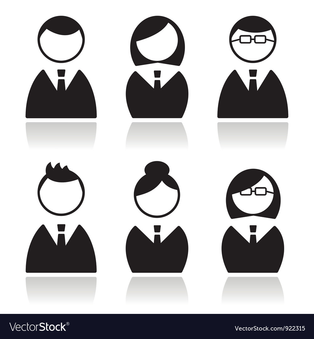 Business people icons set avatars vector | Price: 1 Credit (USD $1)