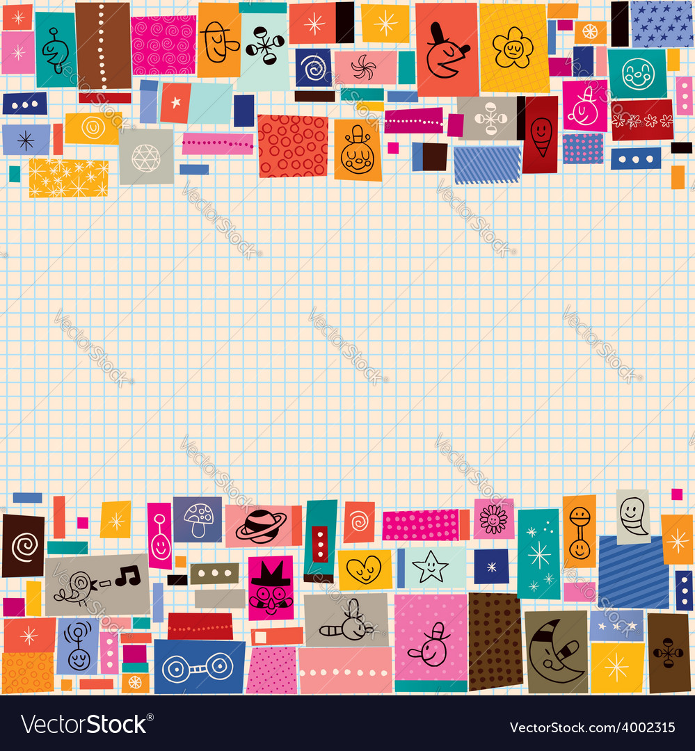 Collage doodle background 2 vector | Price: 1 Credit (USD $1)