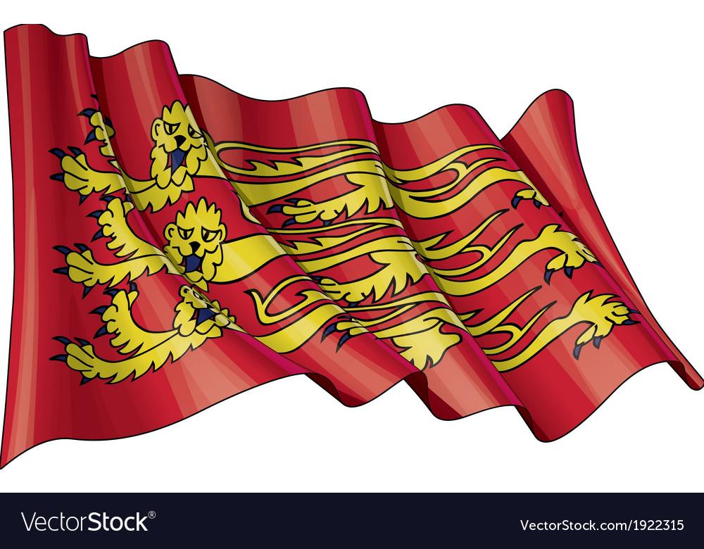 Englands royal baner flag grunge vector   Price: 1 Credit (USD $1)