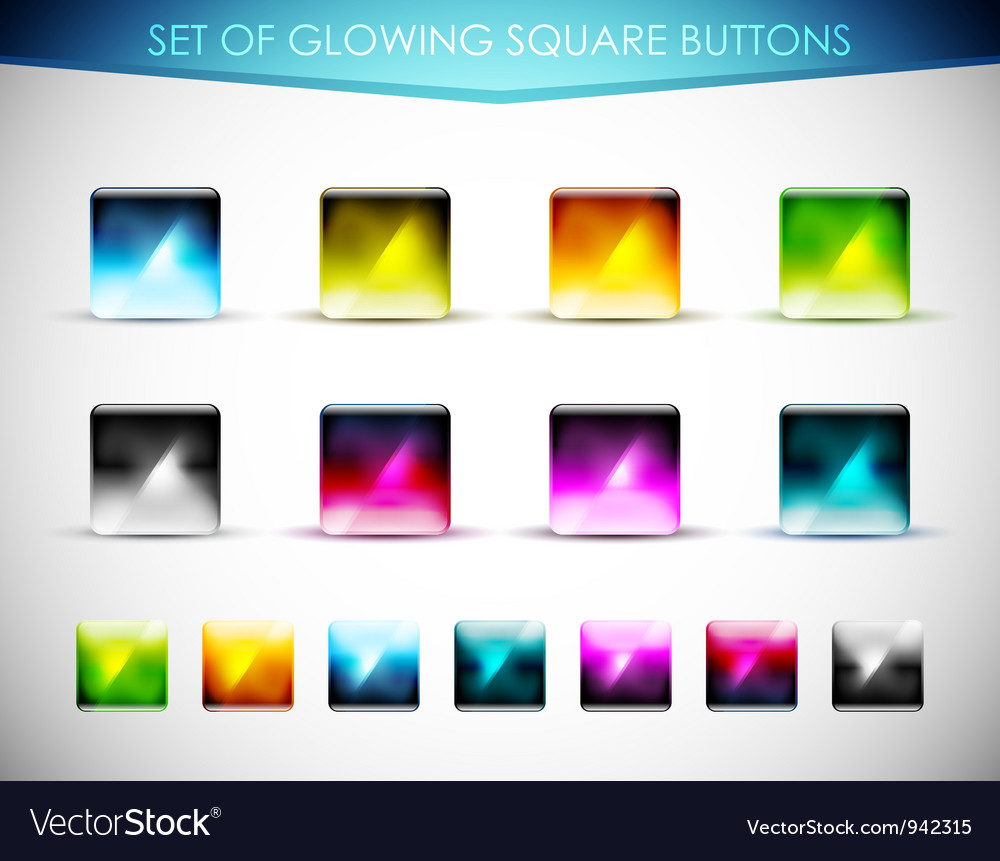 Glowing glass buttons vector | Price: 1 Credit (USD $1)