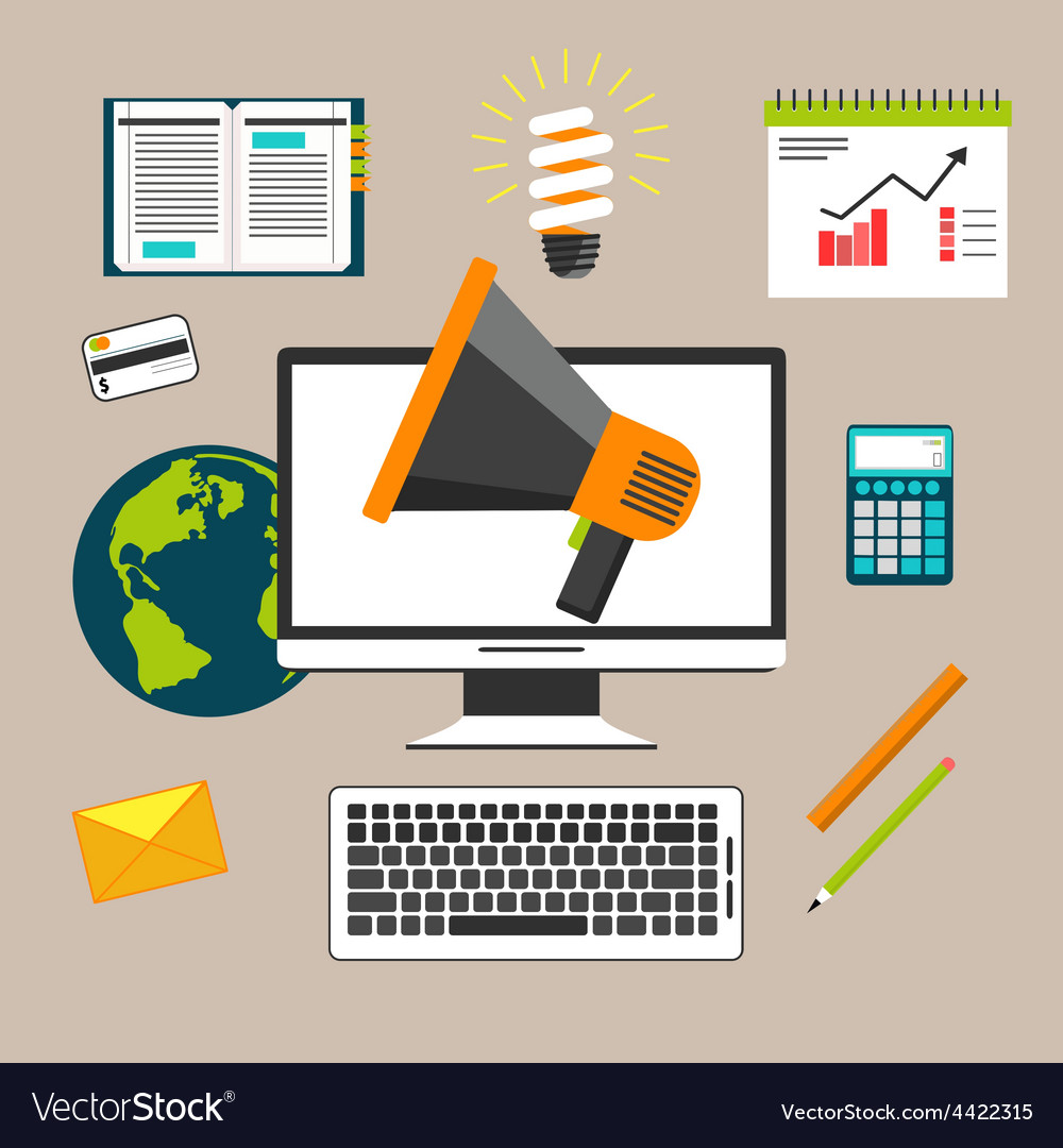 Marketing work tools concept vector | Price: 1 Credit (USD $1)