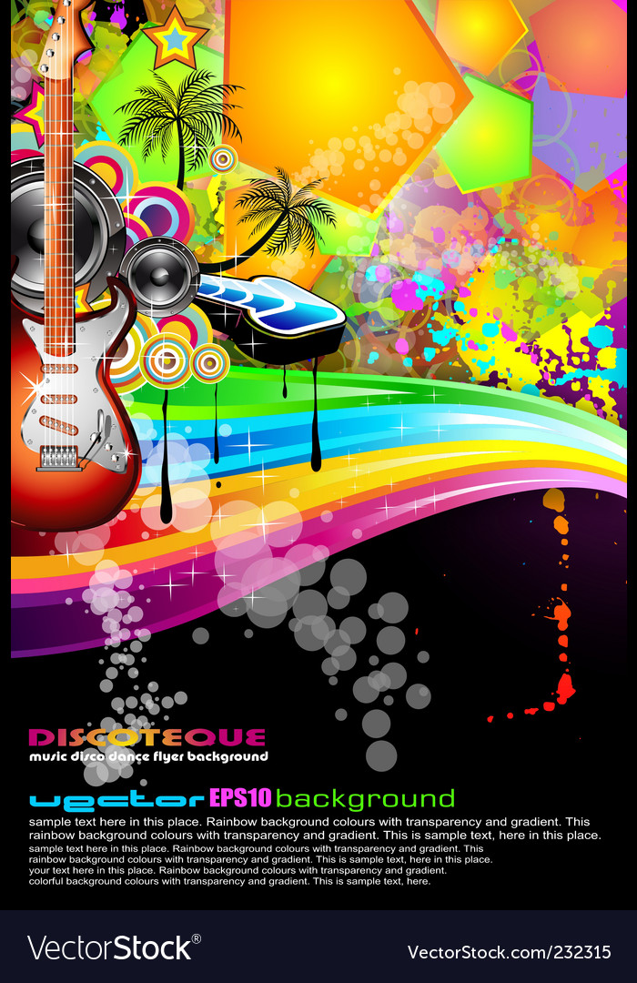 Party poster vector | Price: 3 Credit (USD $3)
