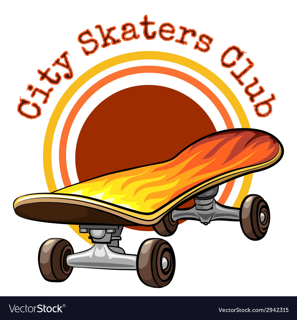 Skateboard emblem vector | Price: 1 Credit (USD $1)