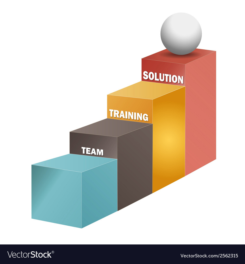 Team training solution stairs 3d vector   Price: 1 Credit (USD $1)
