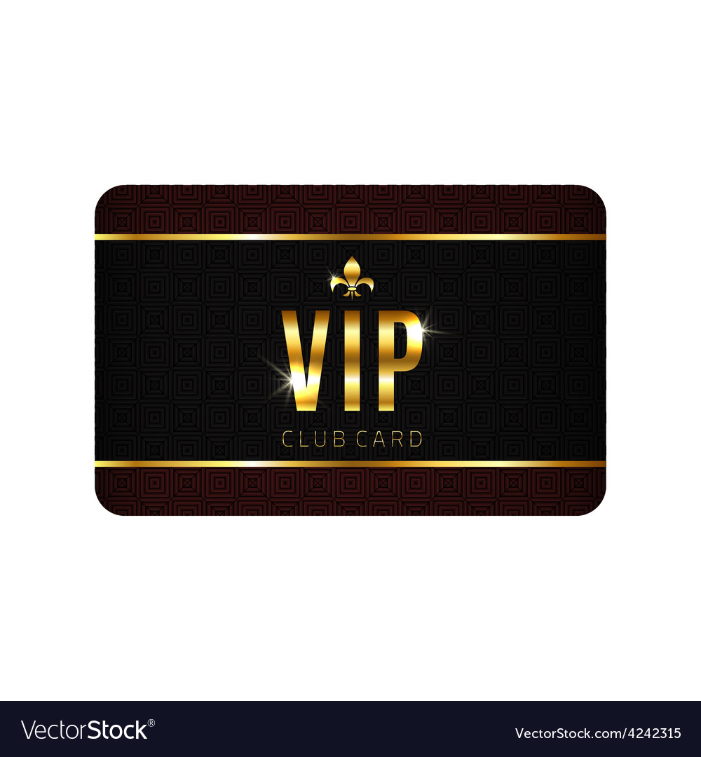 Vip card template vector | Price: 1 Credit (USD $1)
