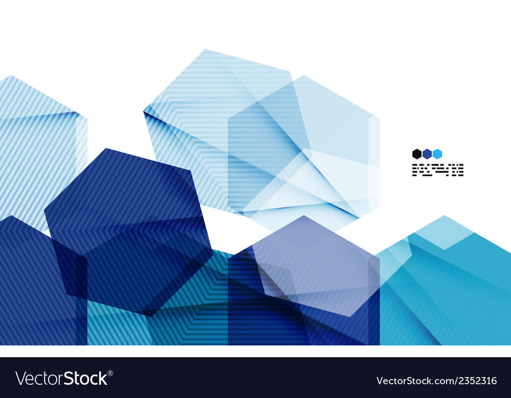 Bright blue geometric modern design template vector | Price: 1 Credit (USD $1)