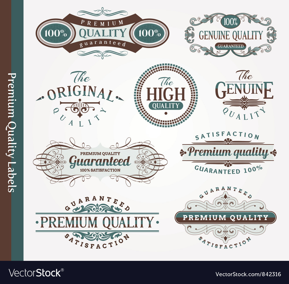 Decorative labels of quality vector | Price: 3 Credit (USD $3)