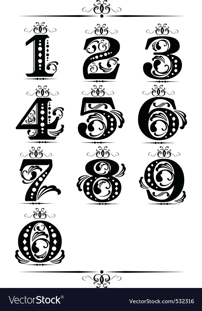 Decorative number element vector | Price: 1 Credit (USD $1)