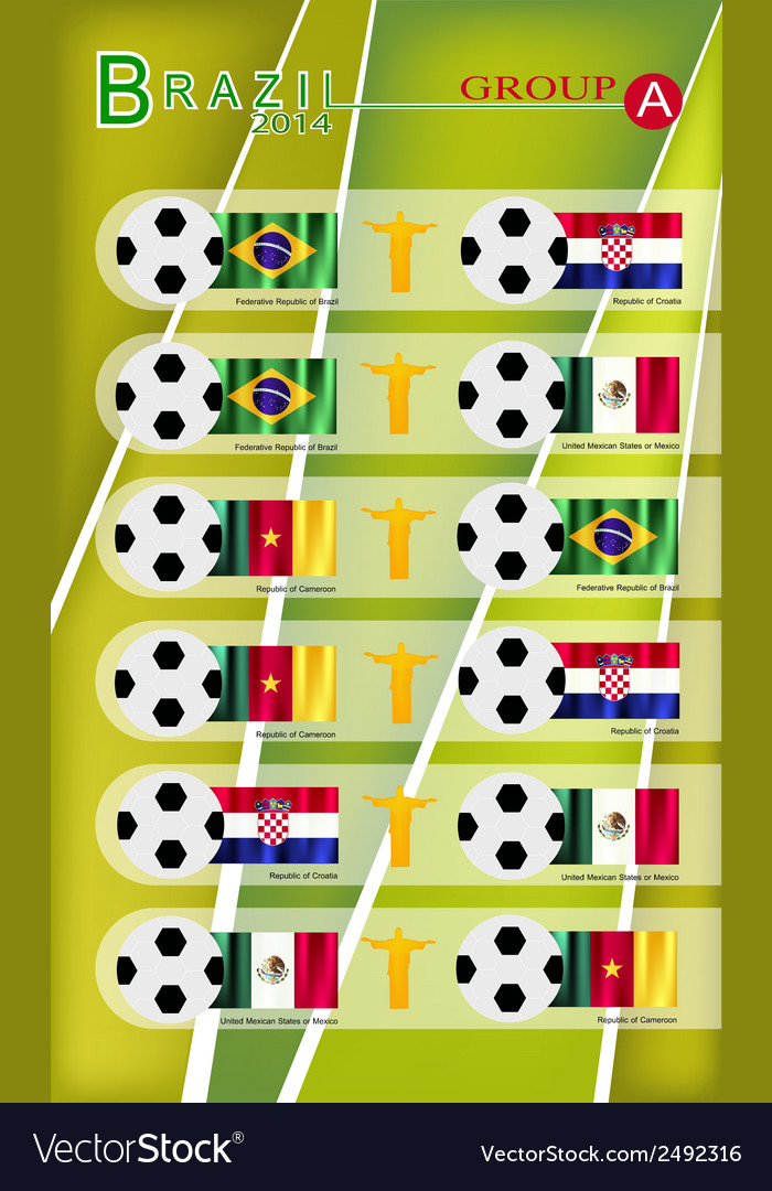 Football tournament of brazil 2014 group a vector | Price: 1 Credit (USD $1)
