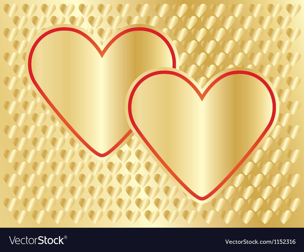 Golden day of valentine background vector | Price: 1 Credit (USD $1)