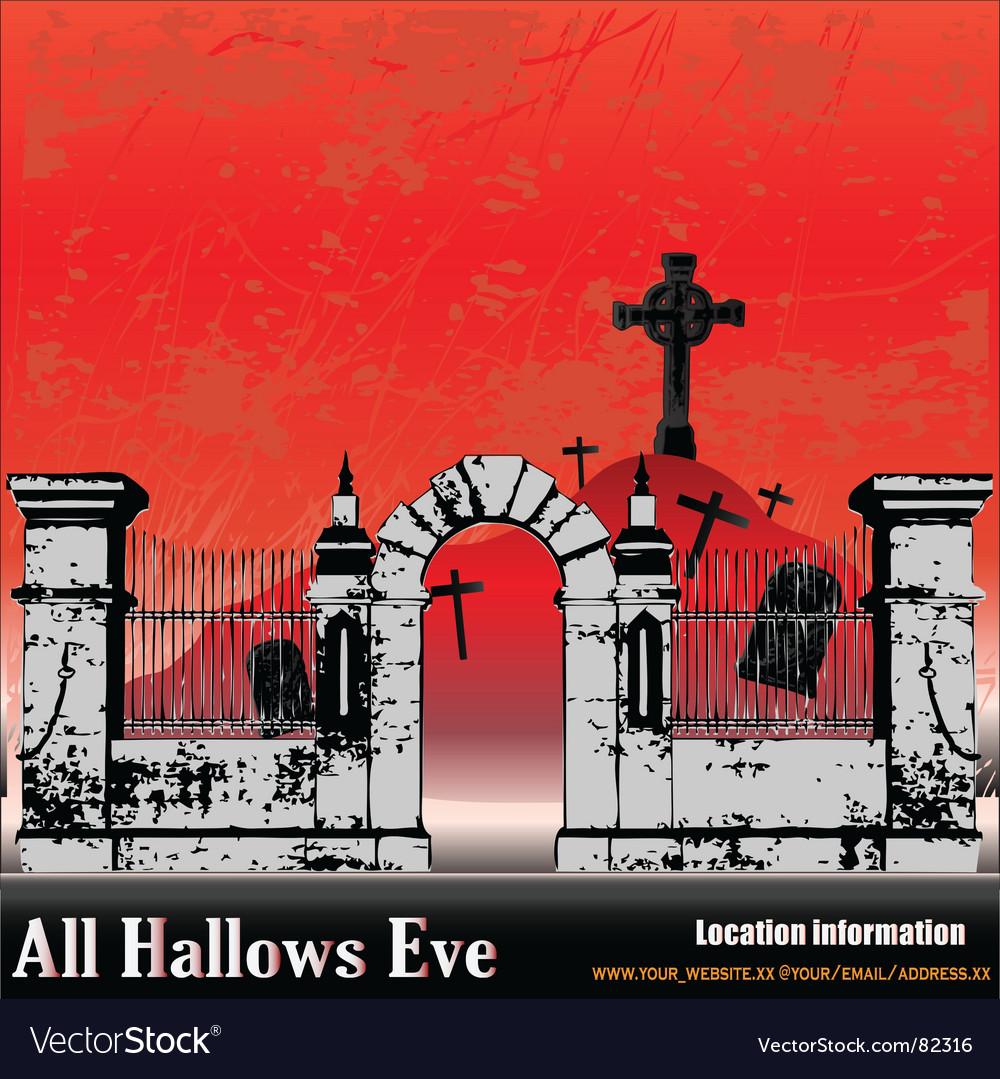 The halloween graveyard vector | Price: 1 Credit (USD $1)