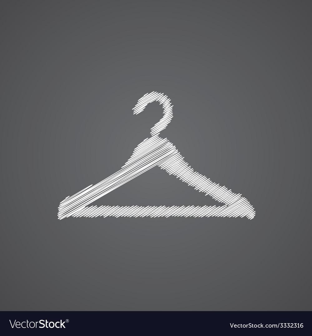 Hanger hat sketch logo doodle icon vector | Price: 1 Credit (USD $1)