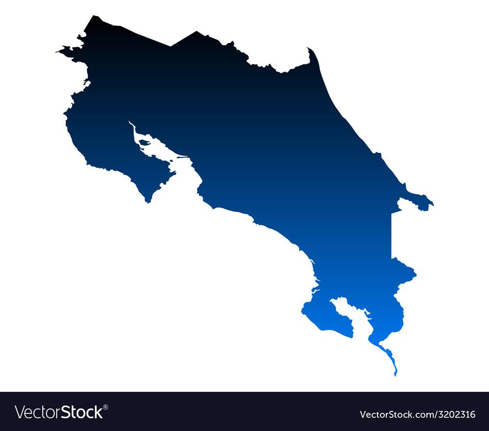 Map of costa rica vector | Price: 1 Credit (USD $1)