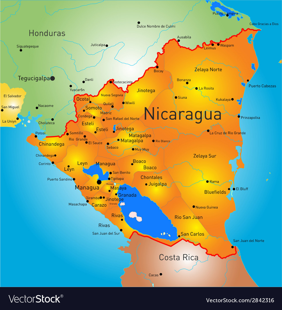 Nicaragua vector | Price: 1 Credit (USD $1)