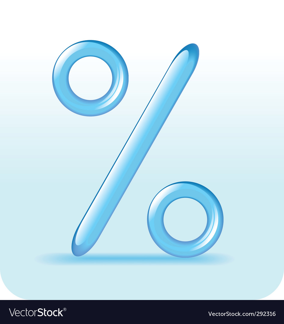 Percent sign vector | Price: 1 Credit (USD $1)