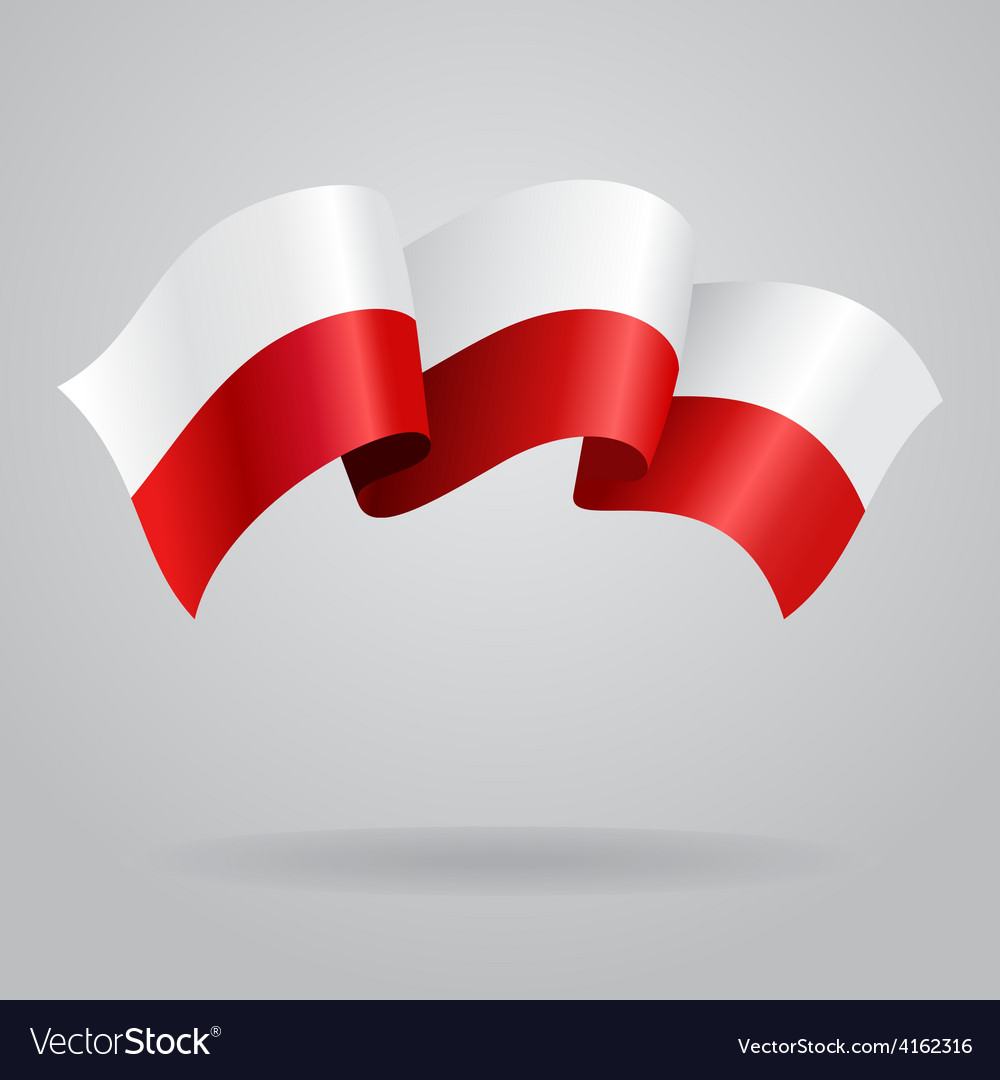 Polish waving flag vector | Price: 3 Credit (USD $3)