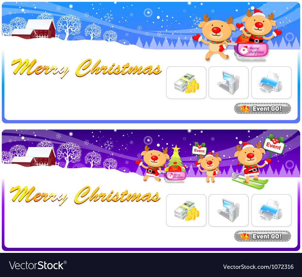 Rudolph a deer mascot using a variety of banner vector | Price: 3 Credit (USD $3)