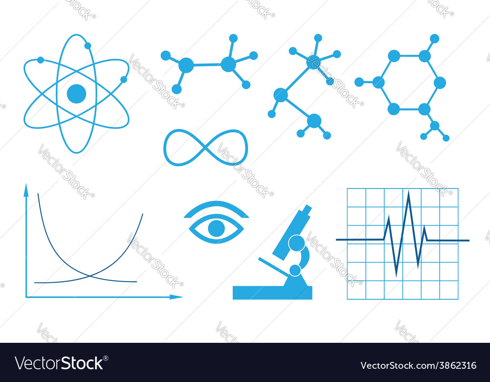 Signs of science - set vector | Price: 1 Credit (USD $1)