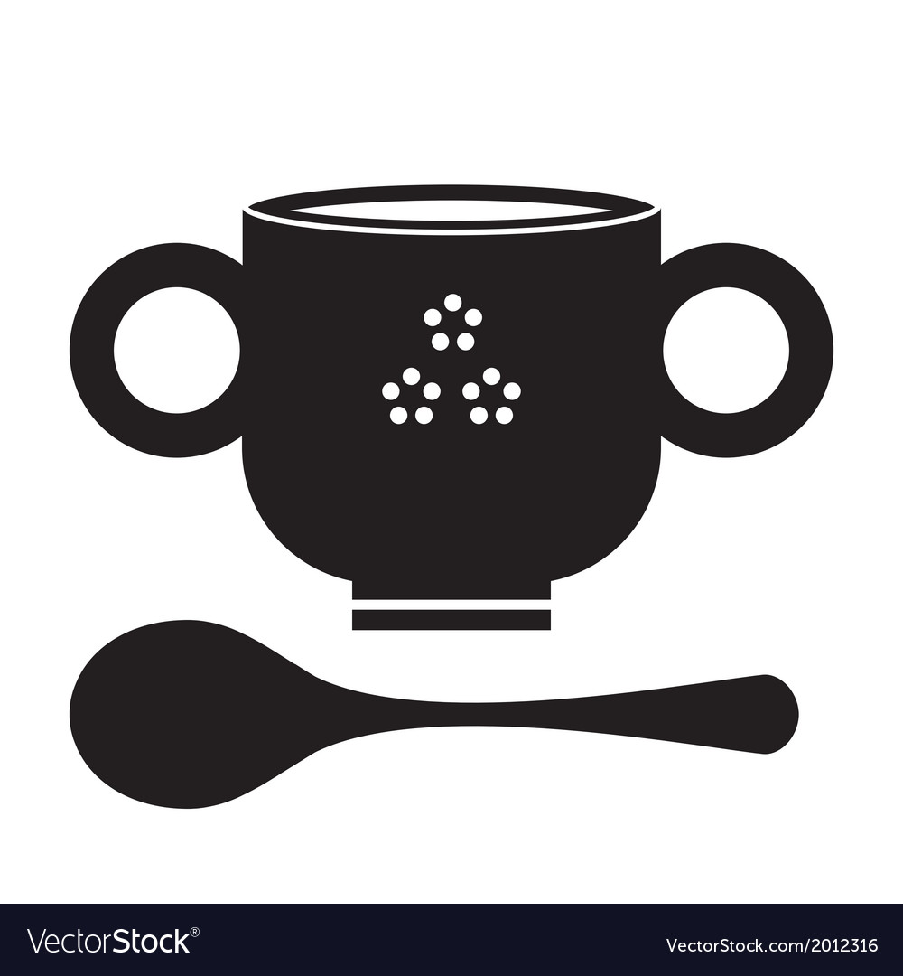 Soupbowlsilhouette vector | Price: 1 Credit (USD $1)