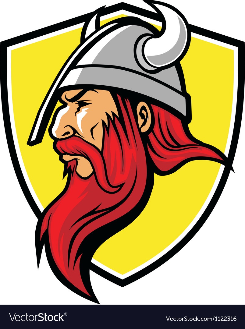 Viking mascot vector | Price: 1 Credit (USD $1)