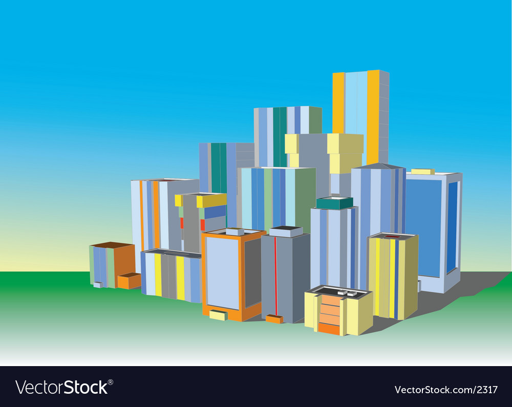 3d city vector | Price: 3 Credit (USD $3)