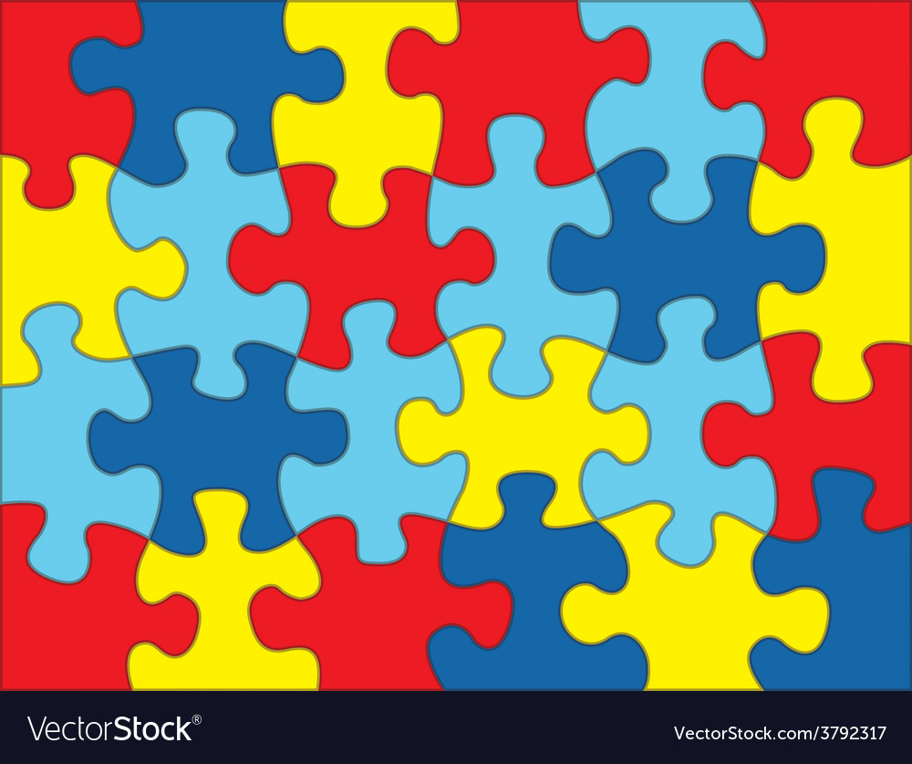 Autism puzzle background vector | Price: 1 Credit (USD $1)