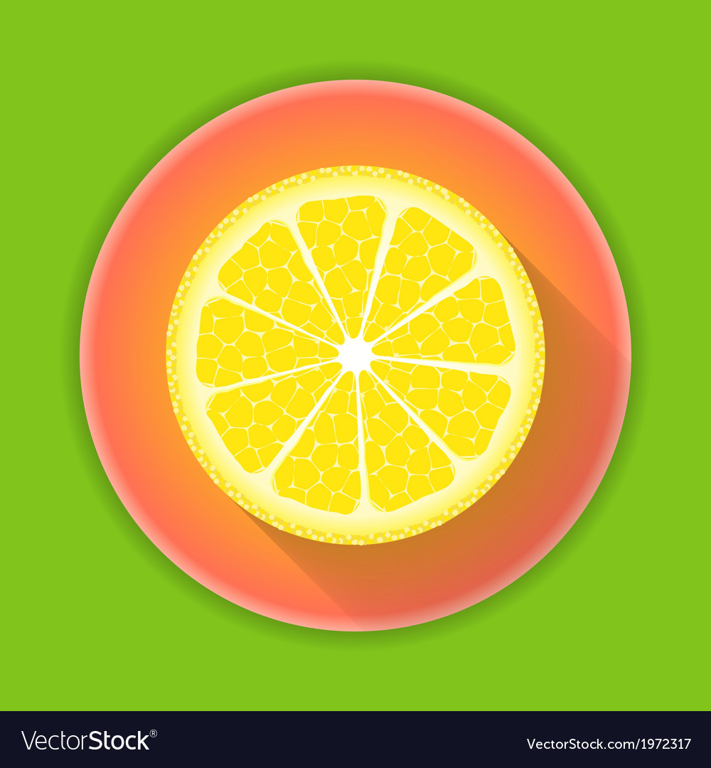 Citrus fruit lemon icon vector | Price: 1 Credit (USD $1)