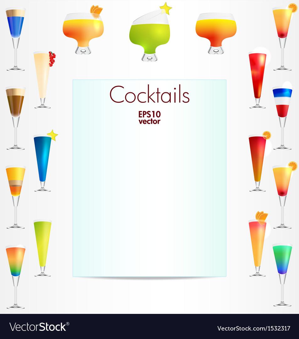 Cocktails backgound vector | Price: 1 Credit (USD $1)