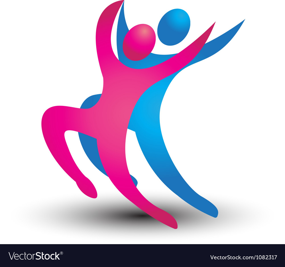 Dancer figures logo vector | Price: 1 Credit (USD $1)