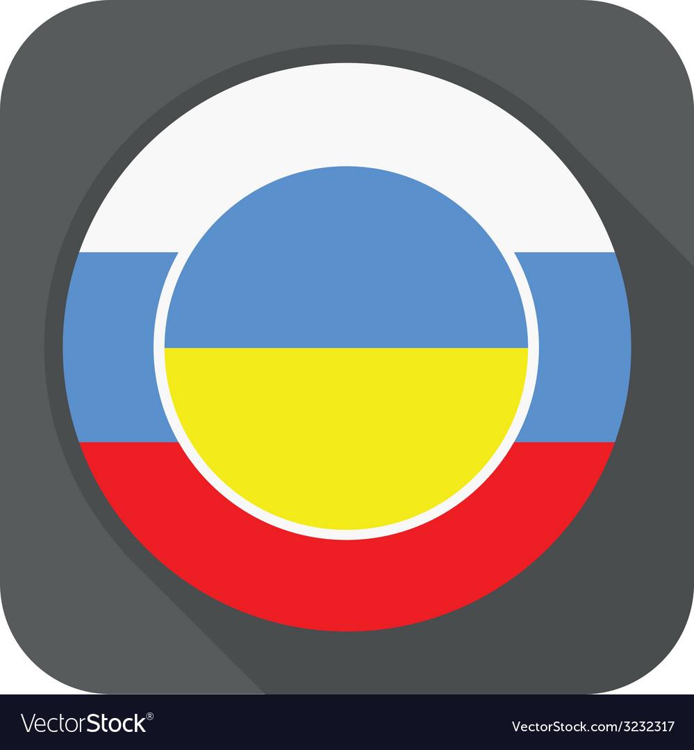 Dark grey round edge button with ukraine vector | Price: 1 Credit (USD $1)