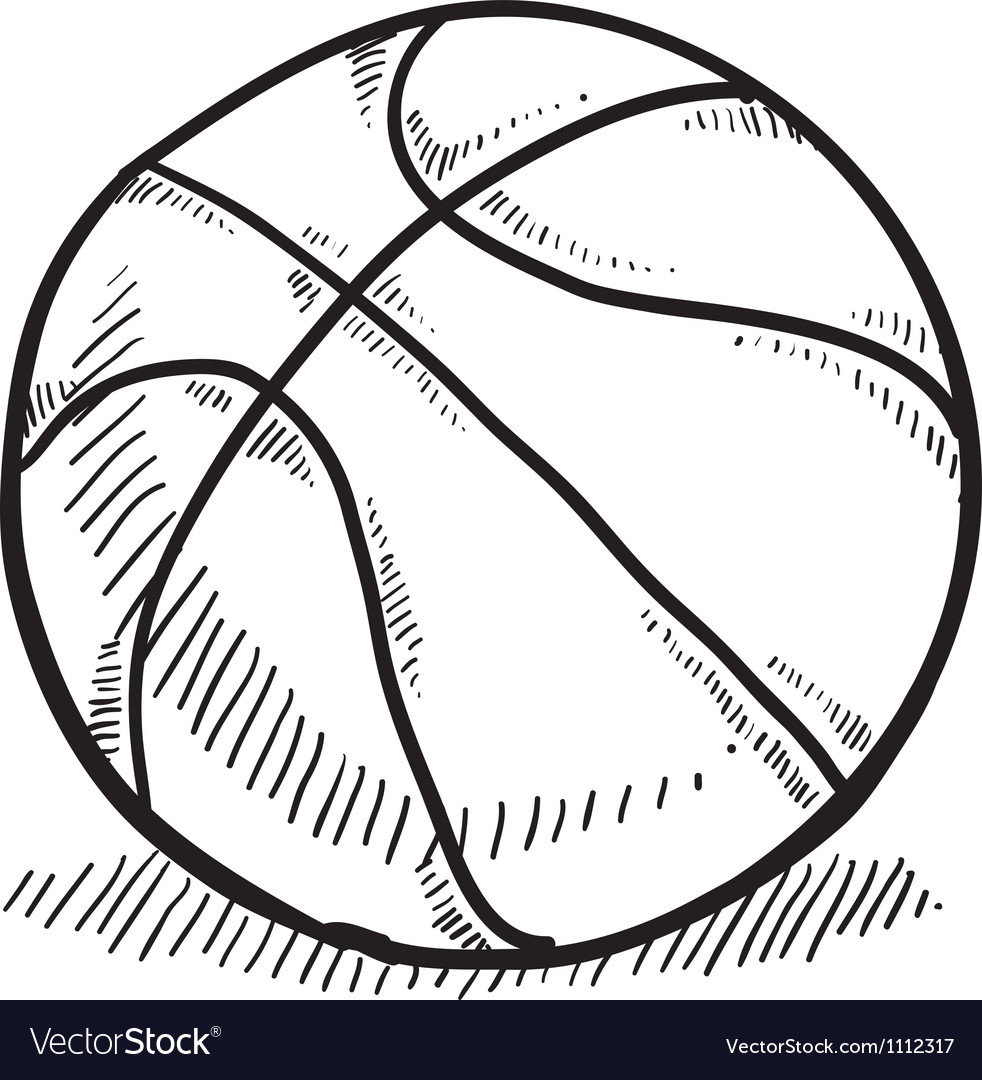 Doodle basketball vector | Price: 1 Credit (USD $1)