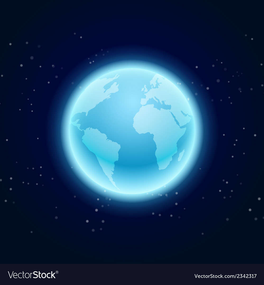 The earth in space vector | Price: 1 Credit (USD $1)