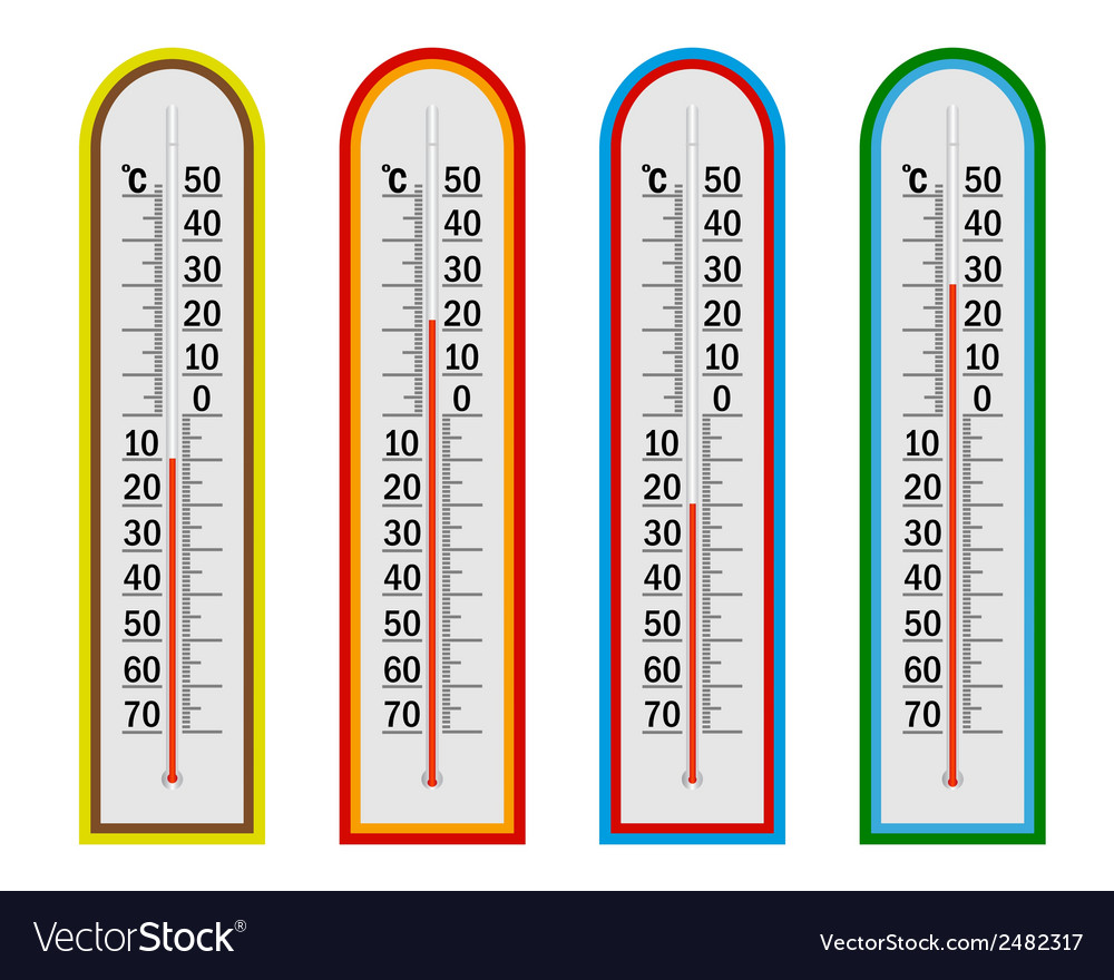 Four thermometer vector | Price: 1 Credit (USD $1)