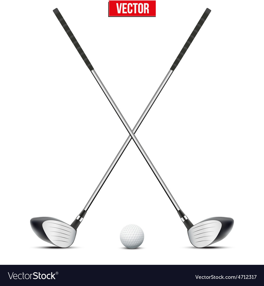 Golf clubs and ball vector | Price: 1 Credit (USD $1)