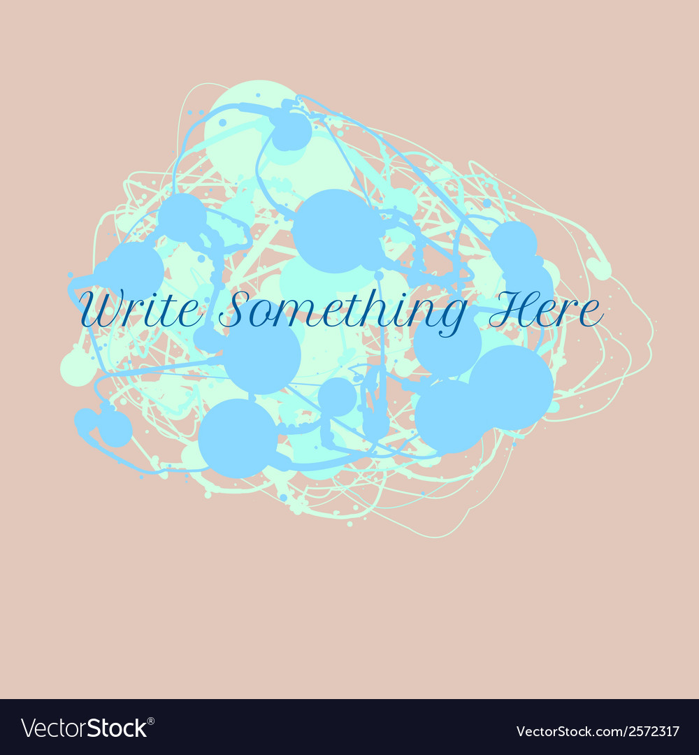 Ink splash background with text vector | Price: 1 Credit (USD $1)