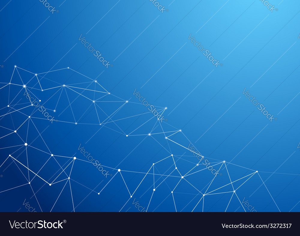 Molecule atom connection abstract blue background vector | Price: 1 Credit (USD $1)