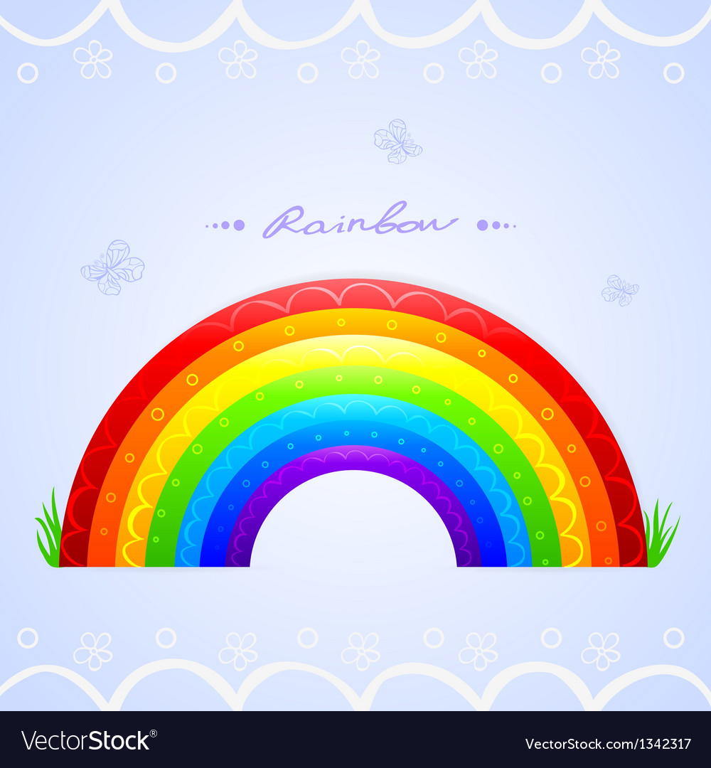Rainbow beautiful vector | Price: 1 Credit (USD $1)