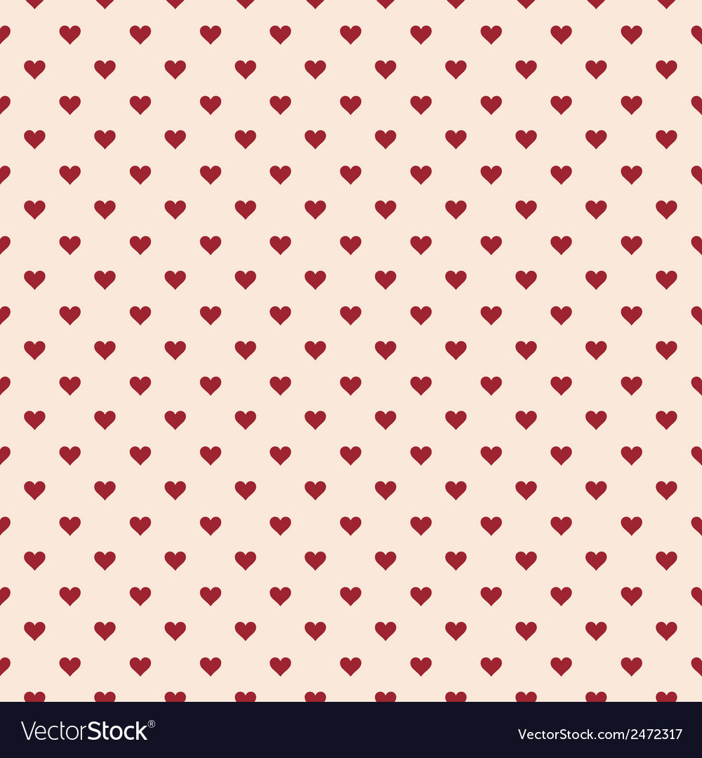 Romantic seamless pattern with hearts vector   Price: 1 Credit (USD $1)