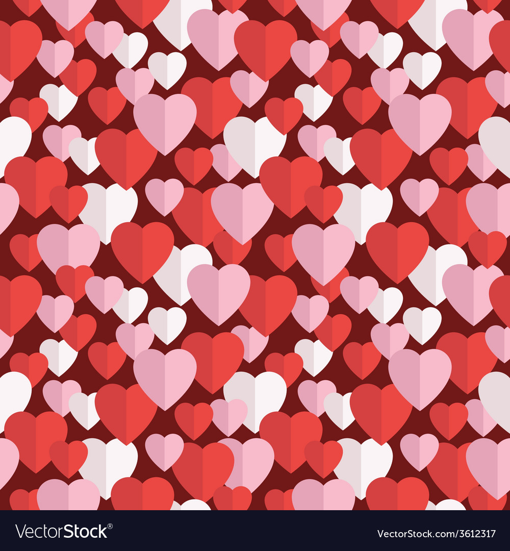 Valentine hearts pattern vector | Price: 1 Credit (USD $1)