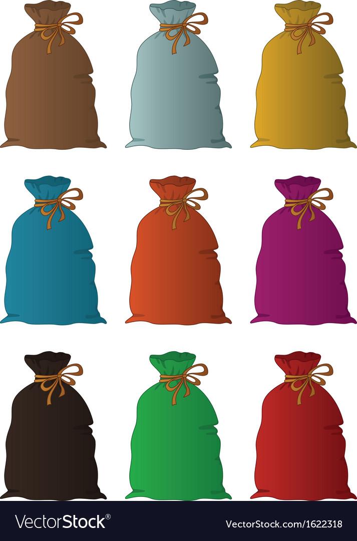 Bag linen set vector | Price: 1 Credit (USD $1)
