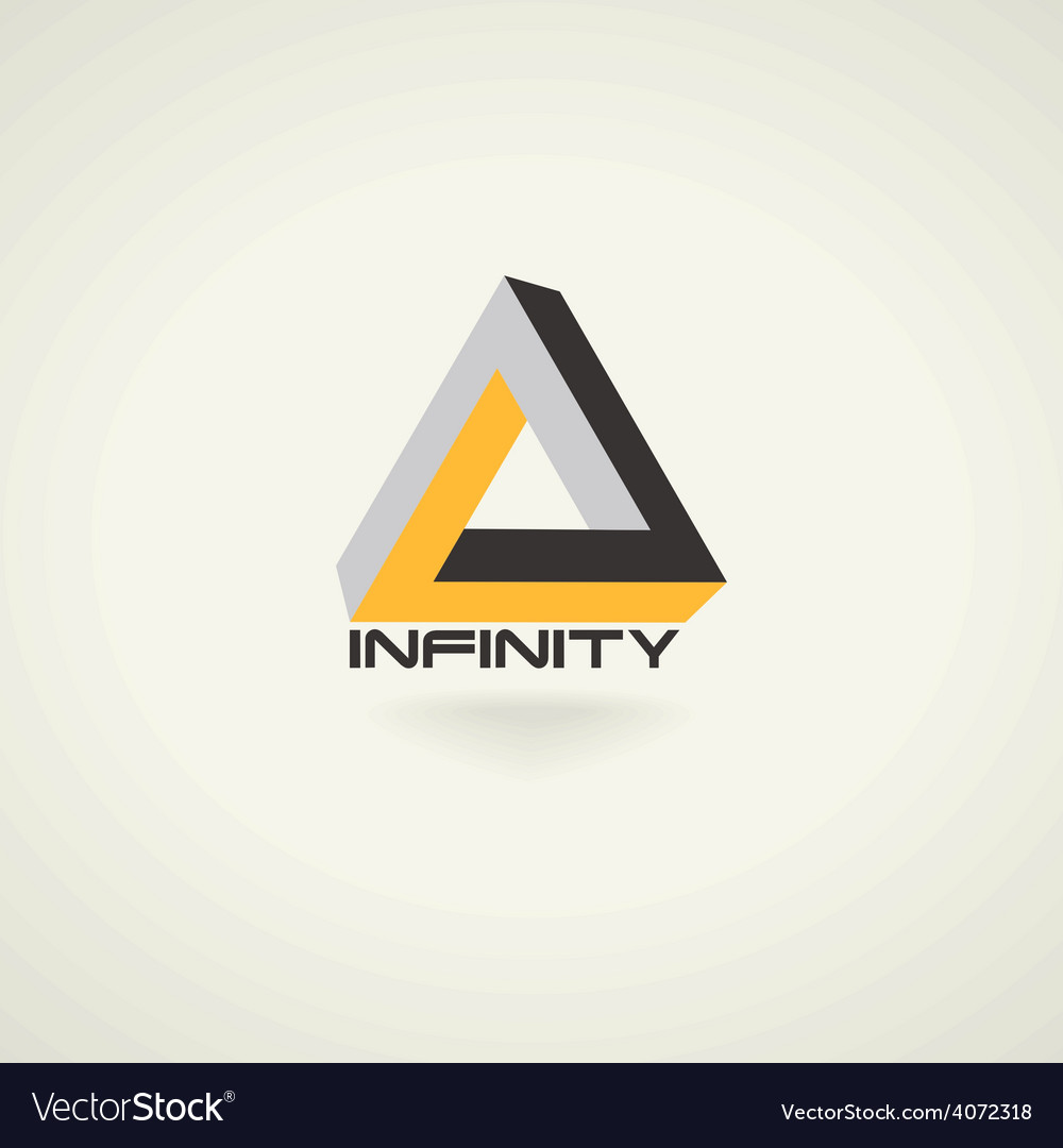 Conceptual infinity symbol icon template logo vector   Price: 1 Credit (USD $1)