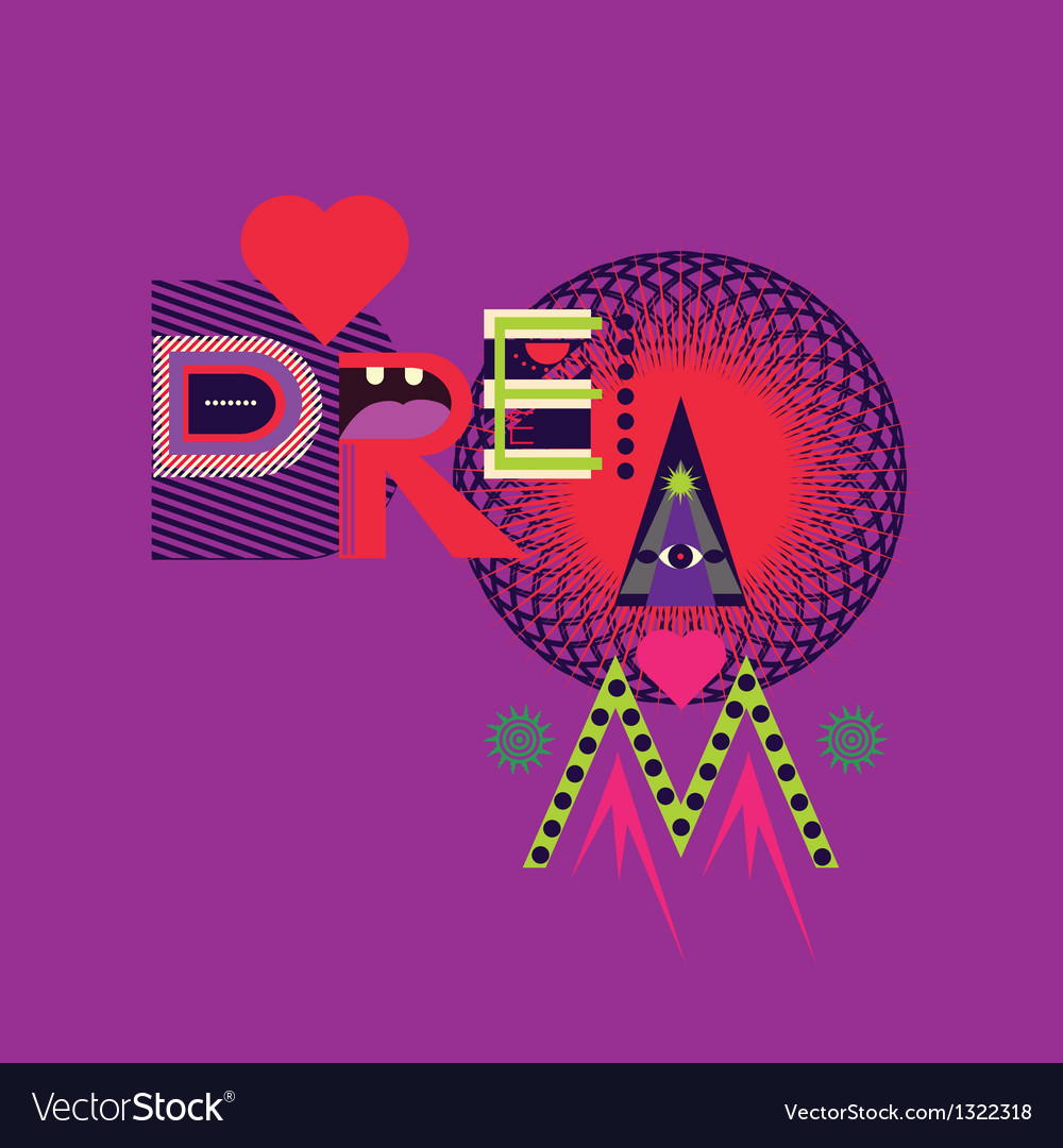 Dream art poster vector | Price: 1 Credit (USD $1)