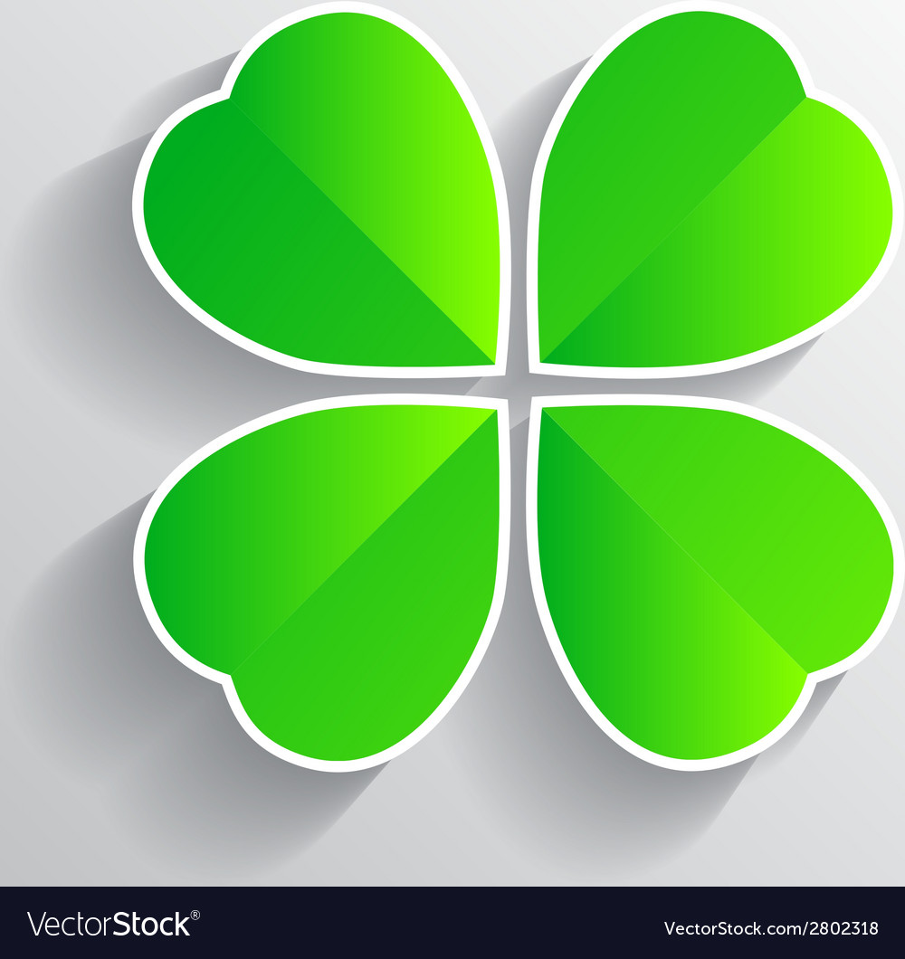 Four-leaf clover for luck happiness green three vector | Price: 1 Credit (USD $1)