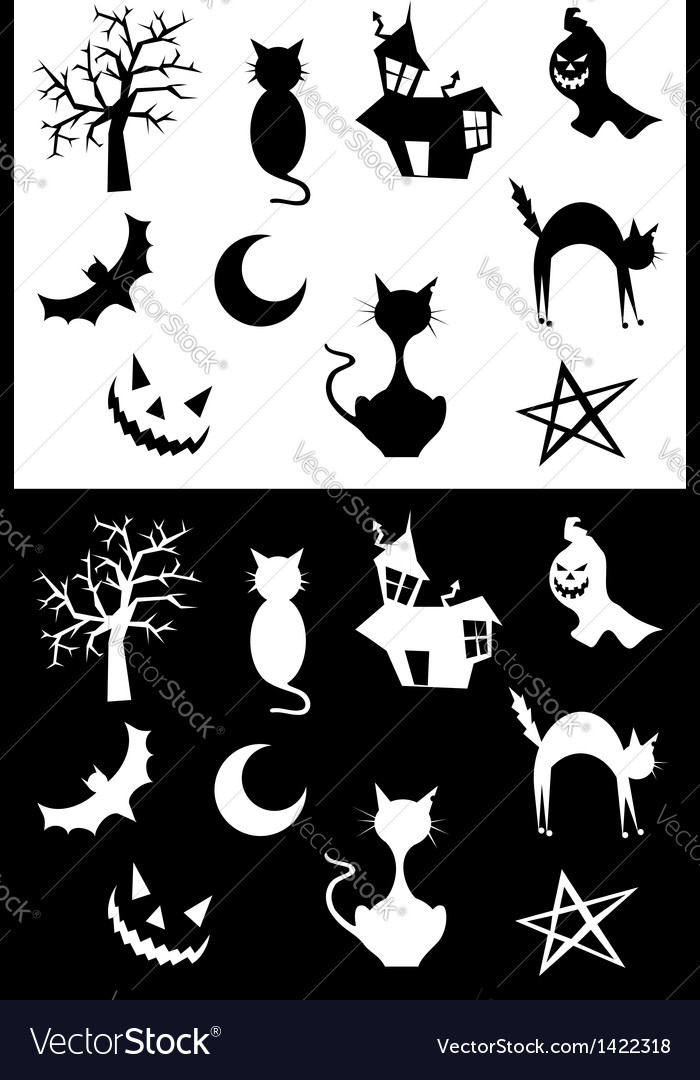 Halloween silhouettes vector   Price: 1 Credit (USD $1)