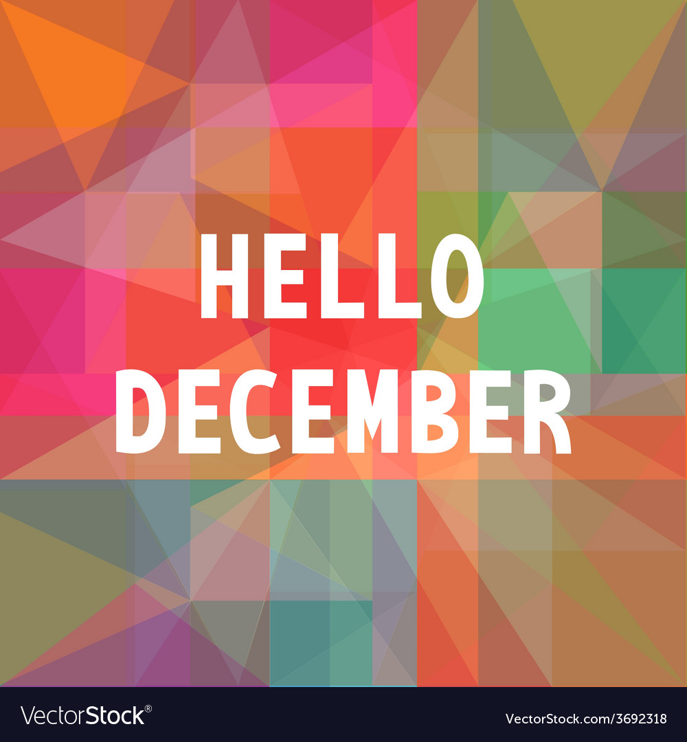 Hello december card1 vector | Price: 1 Credit (USD $1)