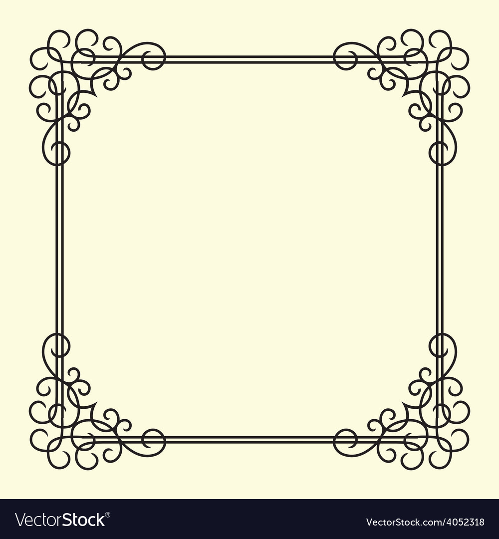 Twirl vintage frame vector | Price: 1 Credit (USD $1)