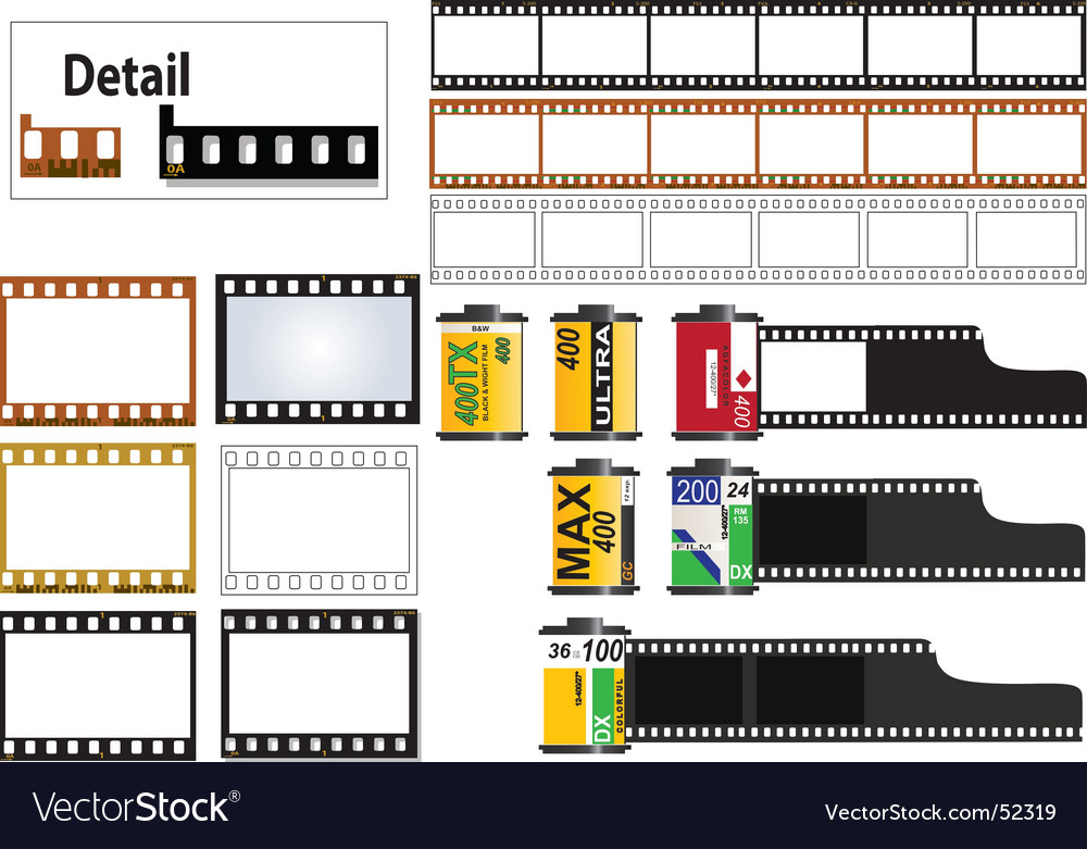 35mm film set vector | Price: 1 Credit (USD $1)