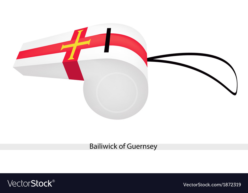 A whistle of the bailiwick of guernsey vector | Price: 1 Credit (USD $1)